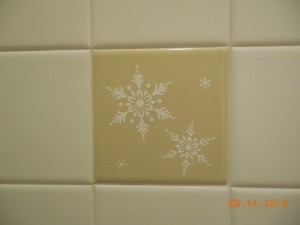 Harvest Gold Shower Tiles