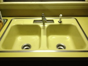 Harvest Gold Double SInk
