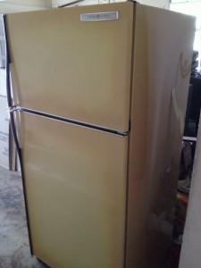 Harvest Gold Refrigerator