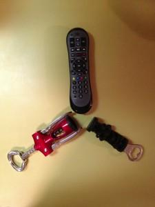 Corkscrew, Bottle Opener, Remote