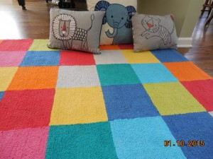 Rug with Pillows
